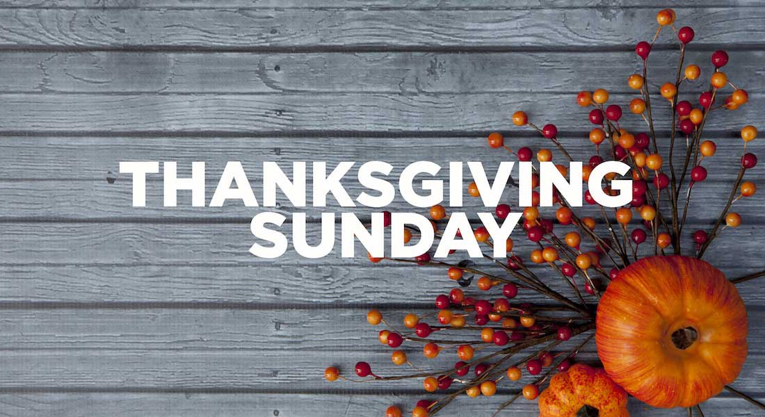Thanksgiving Sunday 2nd Apr 2017